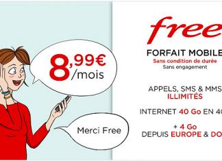 Forfait Free Mobile en promo sur Vente Privée