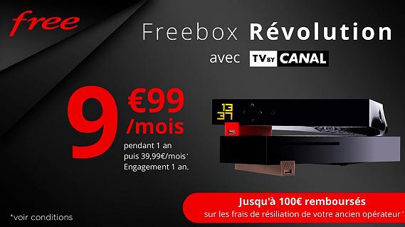Vente Privée : offre Freebox Revolution avec TV by Canal à 9.99 euros prolongée !