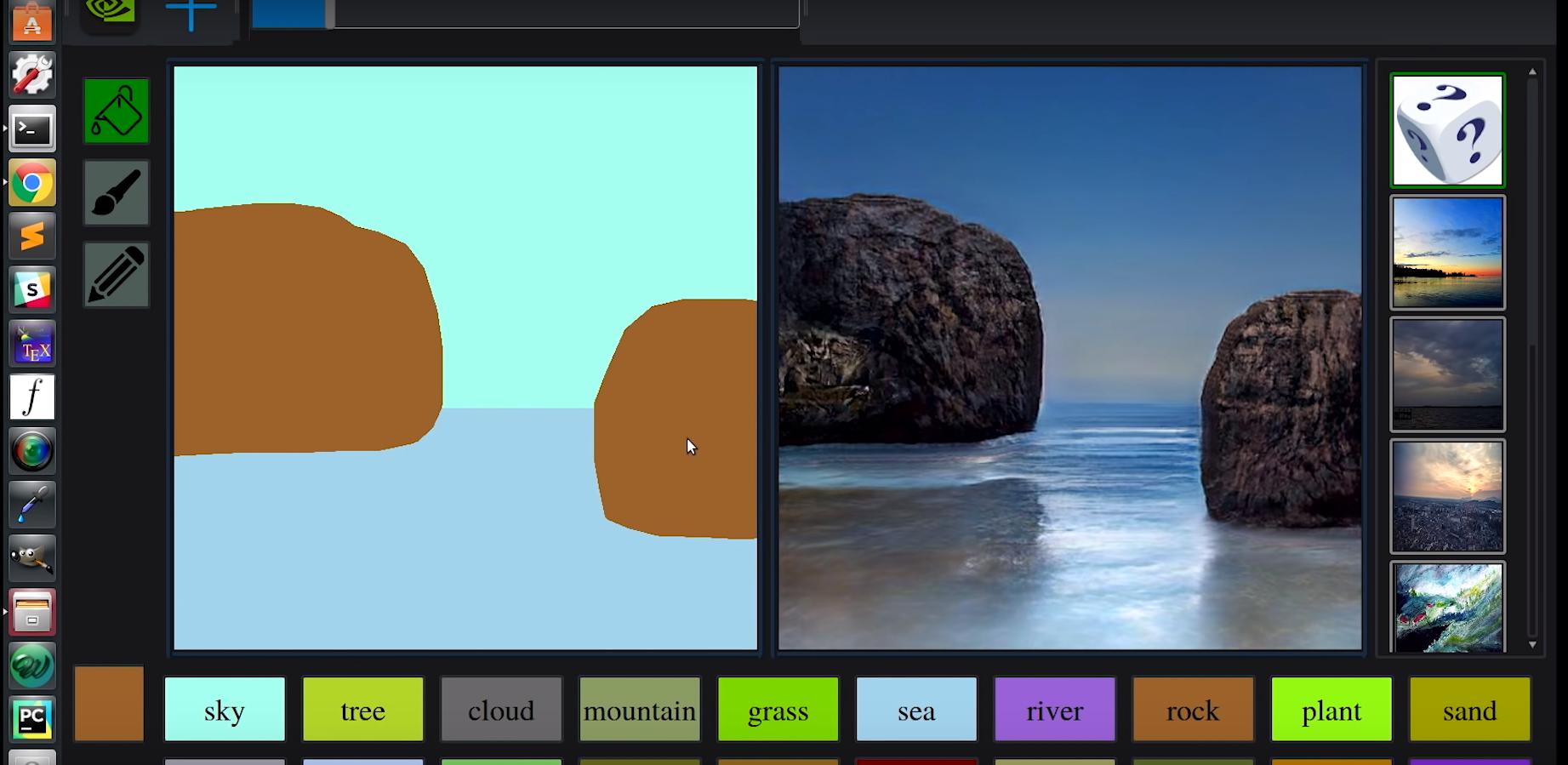 Nvidia a développé une IA qui transforme les gribouillis en de beaux paysages