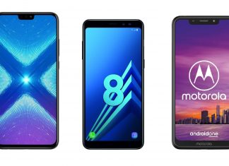 Honor 8X, Samsung Galaxy A8, Motorola One