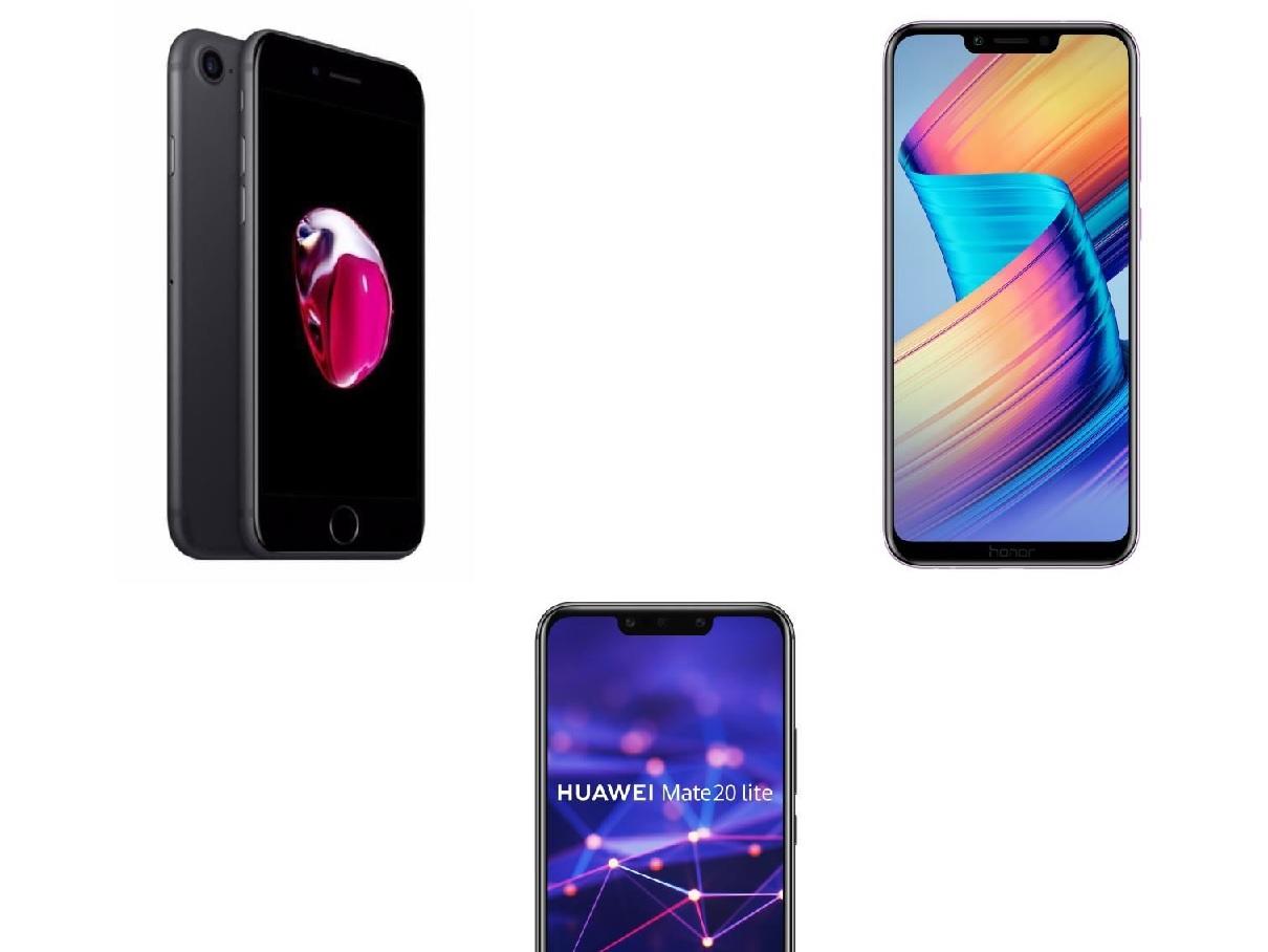 Bon plan : iPhone 7 à 269.99 euros, Huawei Mate 20 Lite à 269.99 euros et Honor Play à 229 euros !