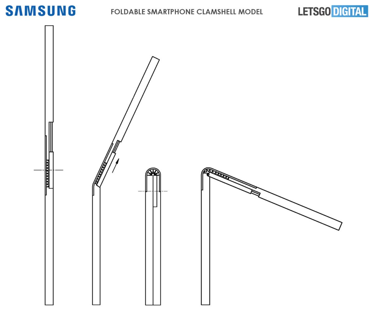 Le brevet de Samsung sur un autre smartphone pliable