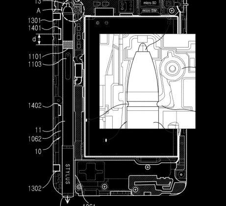 spenasga 461x420 - Les specs du Samsung Galaxy Note 10 fuitent déjà dans un brevet !