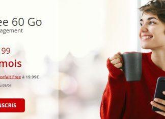 Forfaiit Free Mobile 60 Go à 8.99 euros