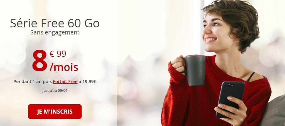Bon plan : profitez encore du forfait Free Mobile 60 Go à 8.99 euros !