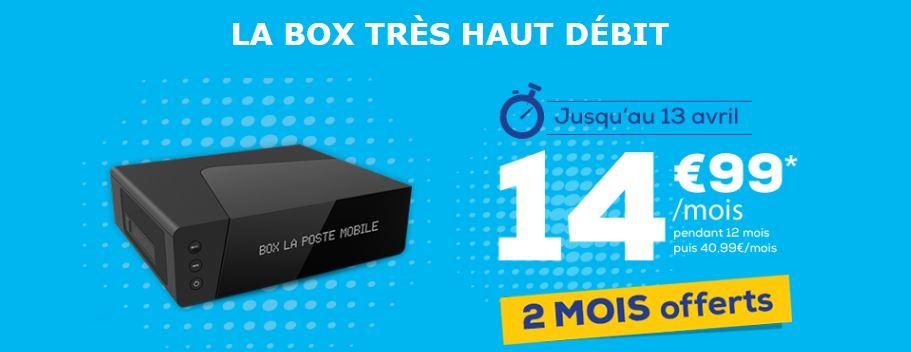 Vente flash : des box La Poste Mobile en promo avec 2 mois offerts !