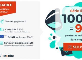 Forfait Cdiscount Mobile 100 Go à 9.99 euros