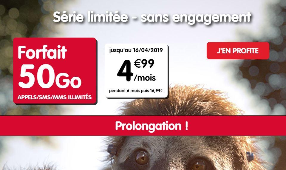 Forfait NRJ Mobile 50 Go à 4.99 euros