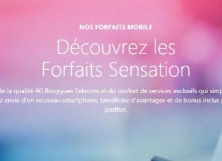Découvrez les forfaits Sensation de Bouygues Telecom !