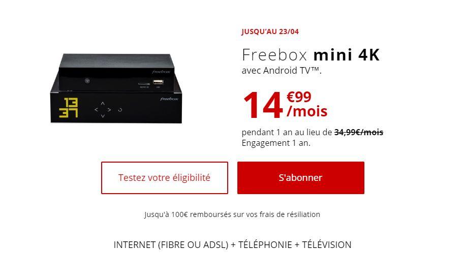Bon plan : dernier jour pour souscrire à la Freebox mini 4K pour 14.99 euros au lieu de 34.99 euros