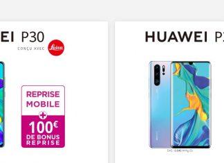 100 euros de bonus reprise sur les Huawei P30 et P30 Pro chez Bouygues Telecom