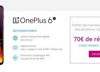 Grosse promo sur le OnePlus 6T en exclusivité chez Bouygues Telecom