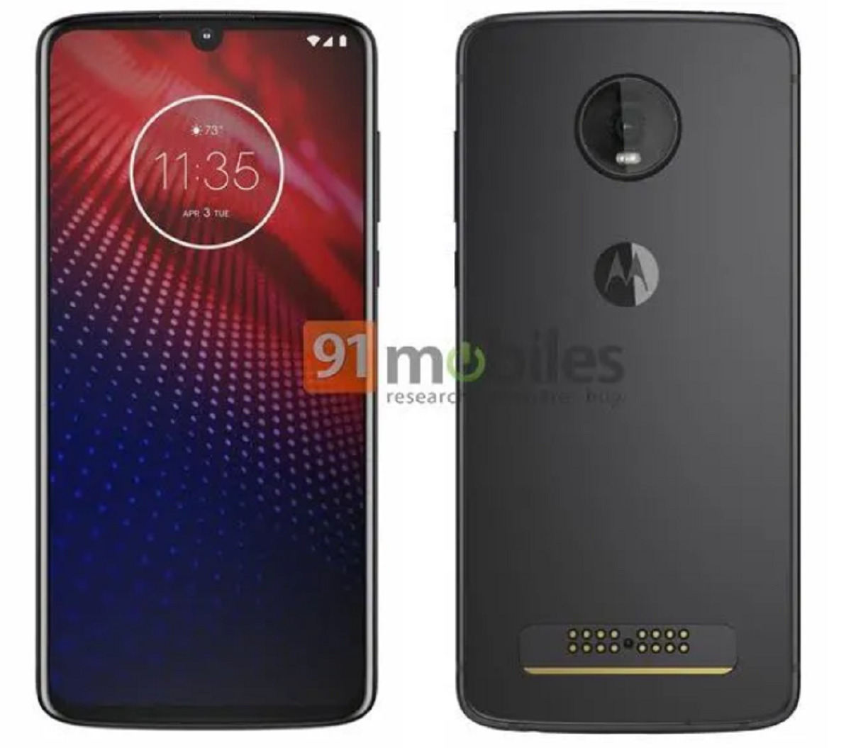 Le Motorola Moto Z4 pourrait ressembler à ça ! - Source : 91mobiles