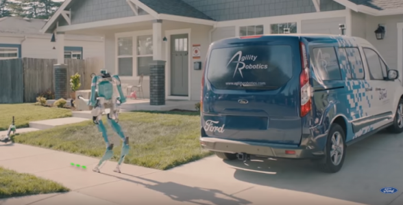 Ford : un robot dans une voiture vous apporte votre colis
