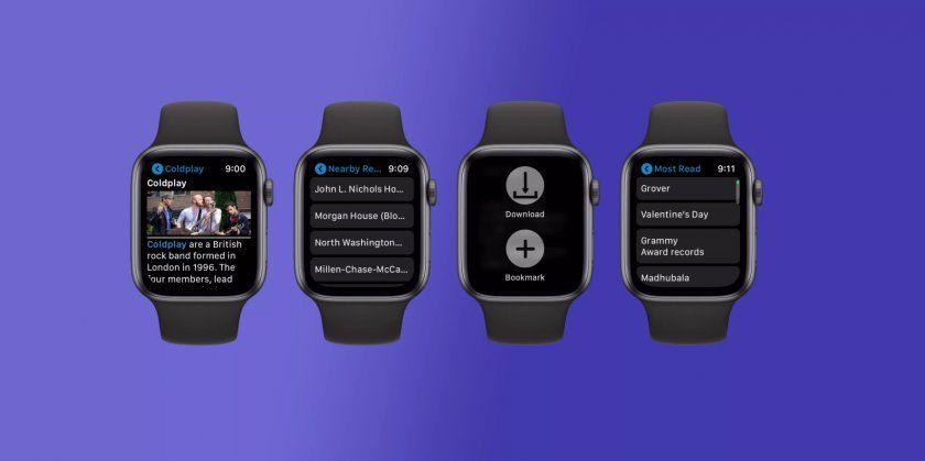 Découvrez MiniWiki, un Wikipedia pour Apple Watch