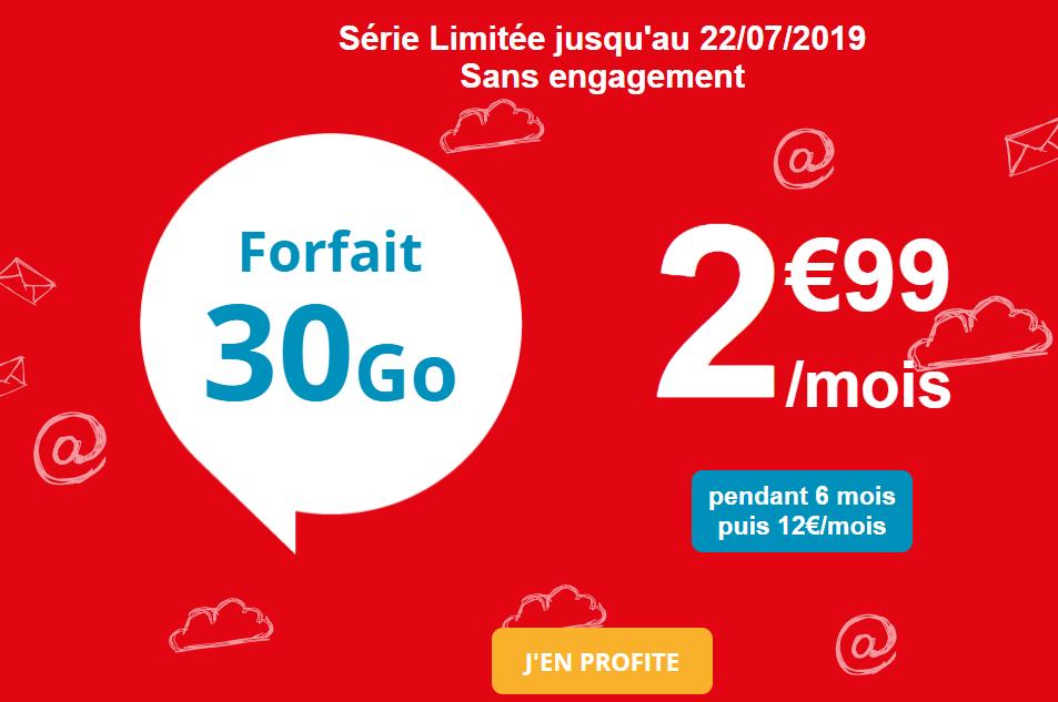Bon plan : Auchan Telecom lance le forfait 30 Go à 2,99 euros/mois pendant 6 mois