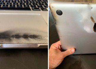 MacBook Pro 2015 : un utilisateur poste des images de son ordinateur ayant pris feu