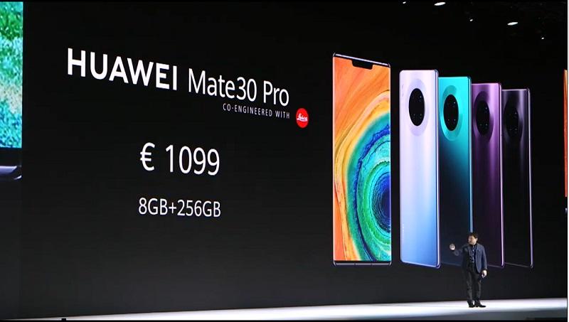 Huawei Mate 30 Pro prix