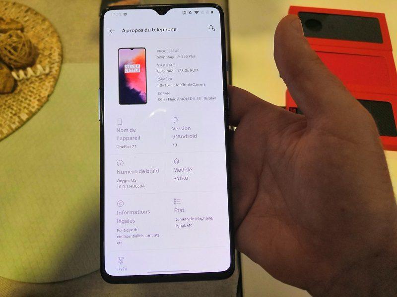 OnePlus 7T fiche technique
