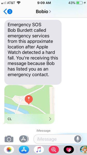 montre connectée message