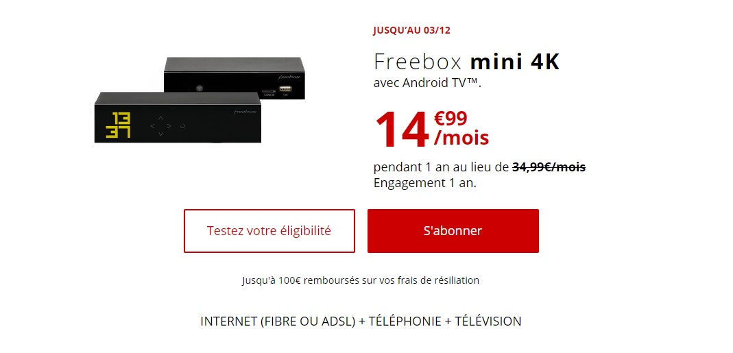 Freebox mini 4K - Bon plan : la Freebox mini 4K à 14,99 euros pendant un an