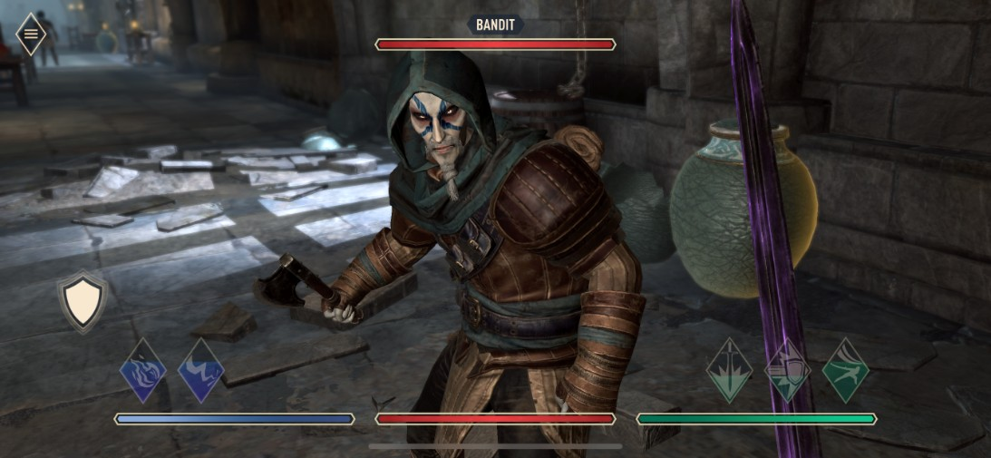 the elder scrolls blades ios screenshot fighting a bandit in a dungeon - [ Test ] Oppo Reno 2Z : un smartphone qui ne fait pas l'appoint