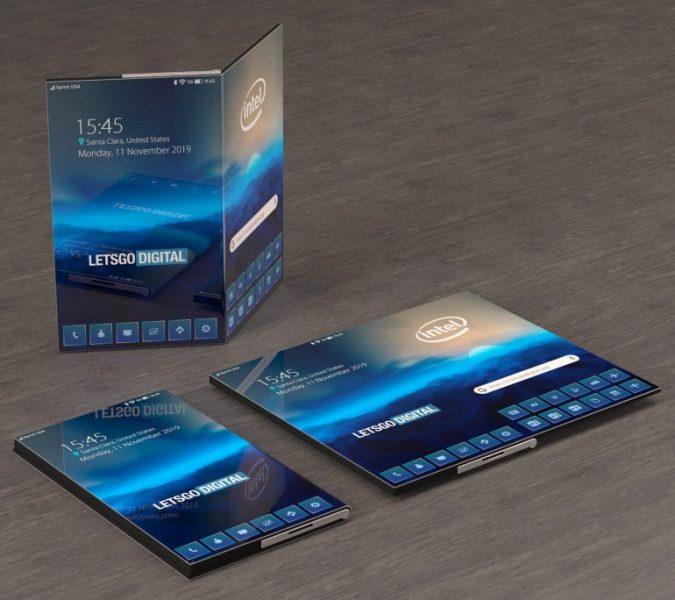 Intel smartphone pliable