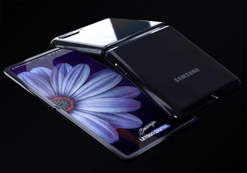 Samsung Galaxy Z Flip rendu 3D 857x600 - Galaxy Z Flip : ce que l'on sait sur le futur smartphone de Samsung
