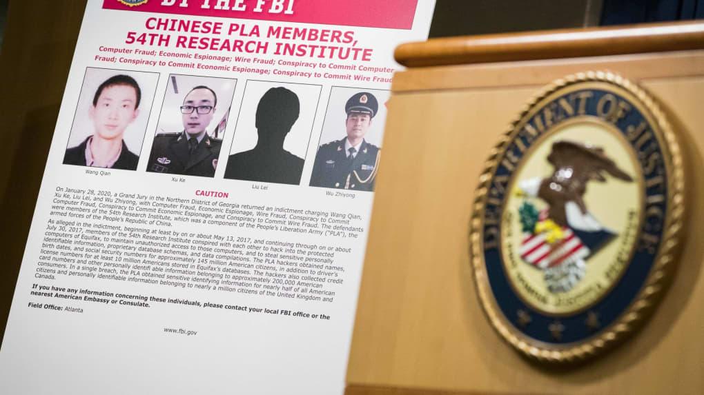 5e4359c94db22af91d8b484b - Etats-unis : quatre militaires chinois accusés de piratage massif