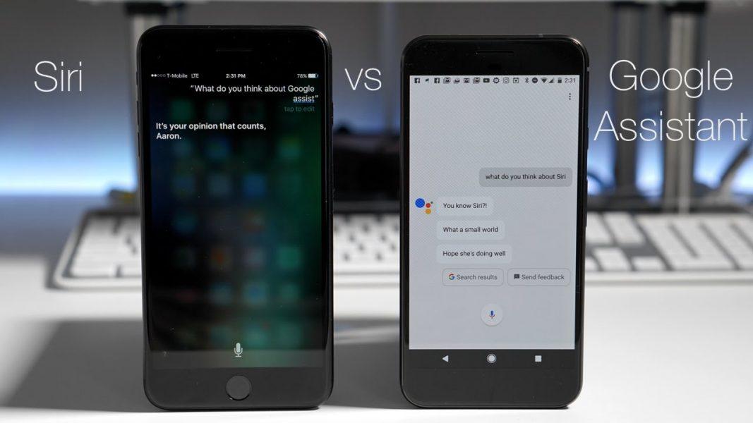 Siri vs google assistant 1067x600 - Google : la multinationale à multi-facettes
