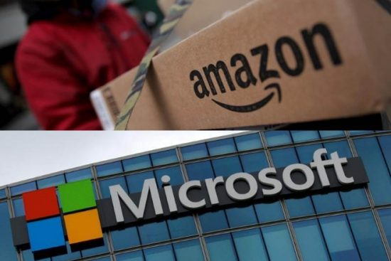 amazon microsoft reuters 550x367 - Amazon risque de faire rater un contrat de 10 milliards à Microsoft