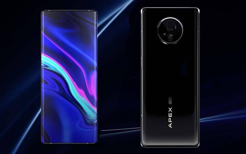 vivo apex 2020  - Vivo Apex 2020 : caméra arrière gimbal, capteur avant sous l'écran, charge sans fil 60 W, on vous présente le nouveau smartphone futuriste de Vivo