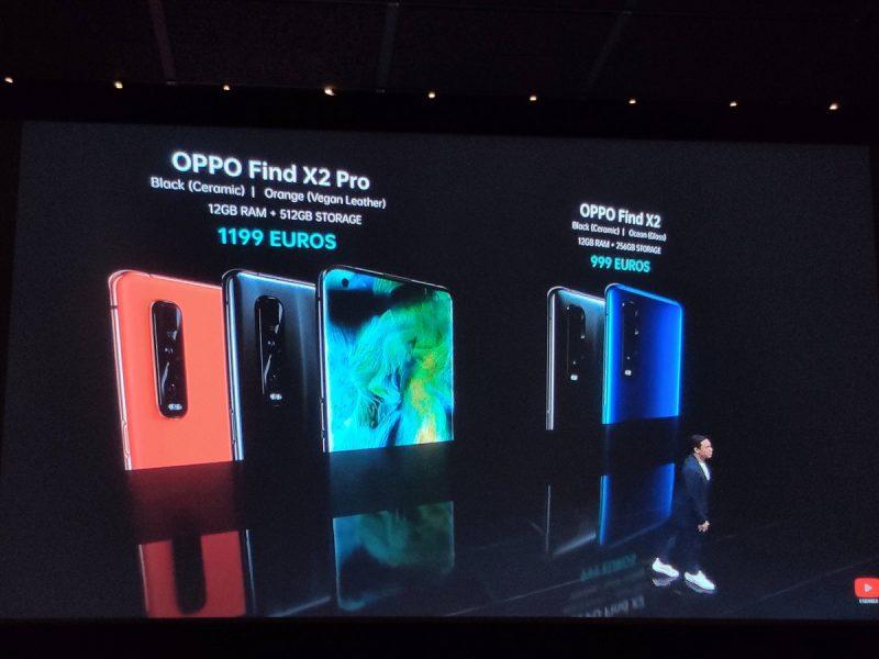 Oppo Find X2 Pro prix