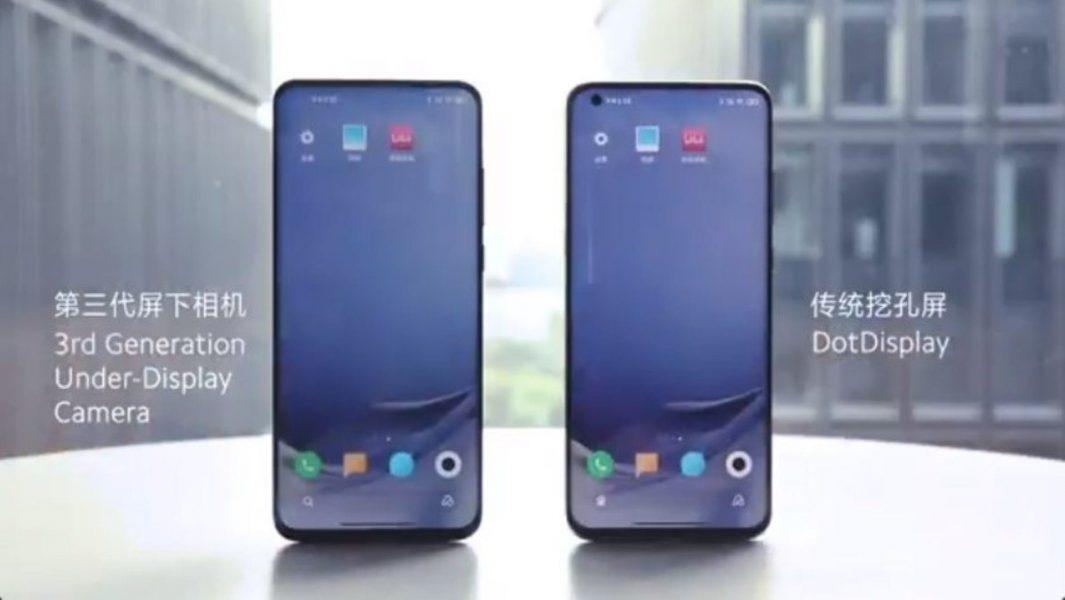 Xiaomi camera sous l'écran