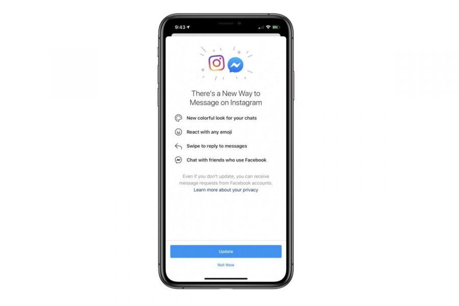 Facebook et Instagram fusionnent pour les messages privés