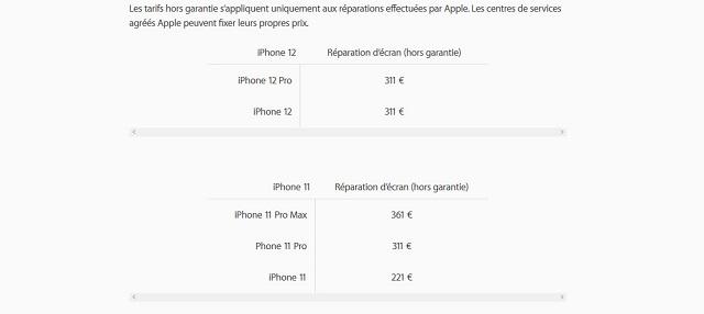 iPhone 12 - iPhone 12 : le smartphone est plus difficile et plus coûteux à réparer que l'iPhone 11