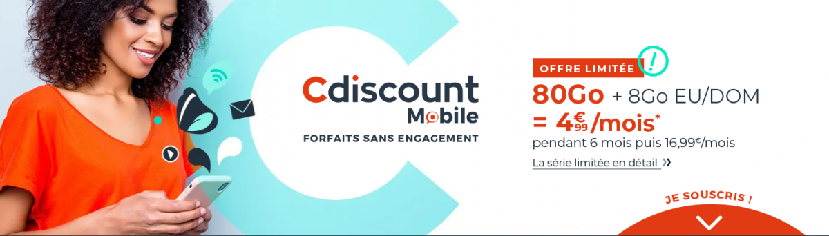forfait Cdiscount Mobile 80 Go
