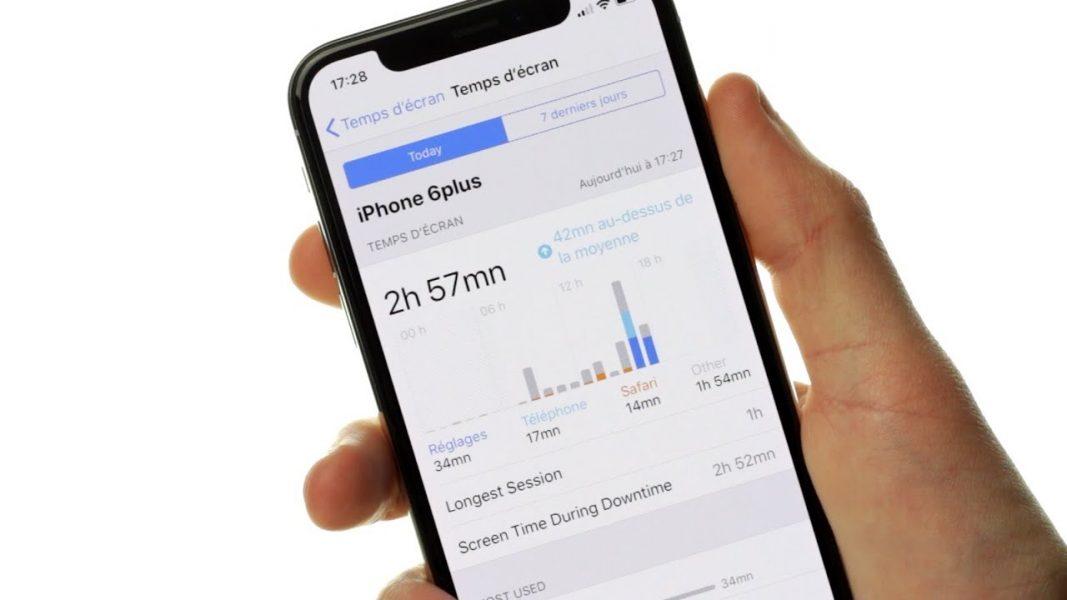 Temps d'écran iPhone contrôle parental