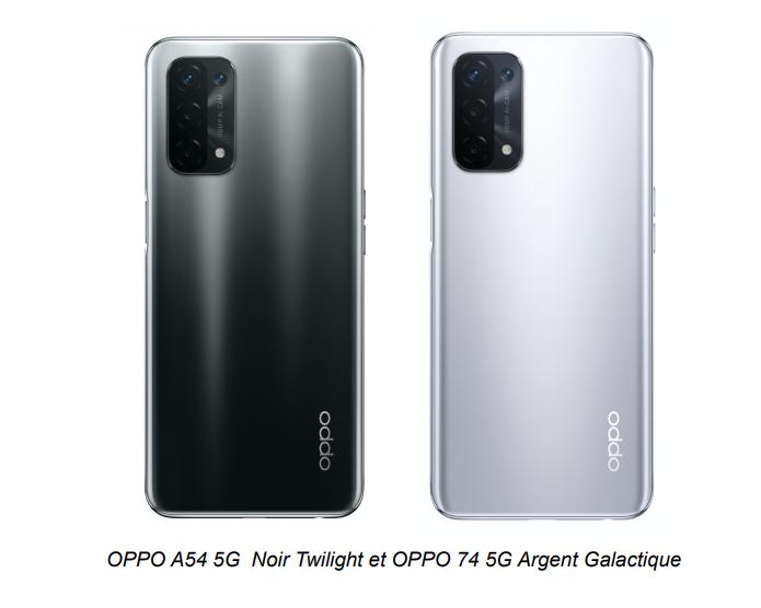 Oppo A54 et A74 - Oppo étoffe son offre de smartphones 5G à moins de 400 euros avec trois nouveaux modèles