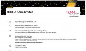 Le forfait Sosh 100 Go est en promotion à 14,99 euros par mois sans prix qui double
