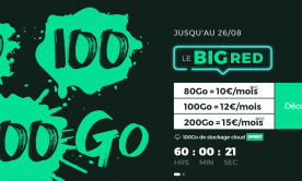 Découvrez le forfait BIG RED 80 Go disponible à 10 euros par mois