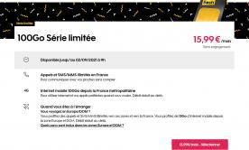 Le forfait Sosh 100 Go en Série Limitée à 15,99 euros encore pour quelques jours