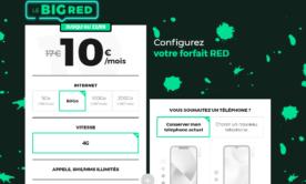 Le forfait BIG RED 80 Go est encore à 10 euros par mois pour quelques heures