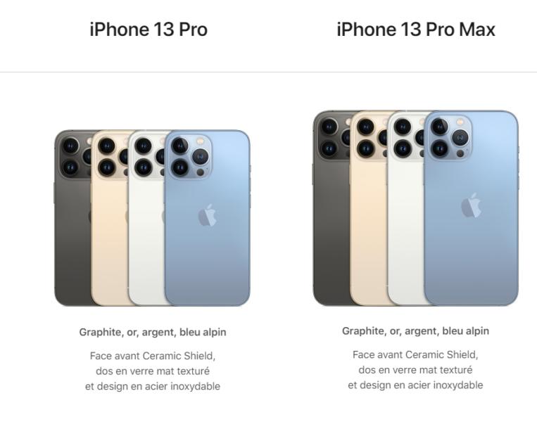 iPhone 13 Pro et Pro Max